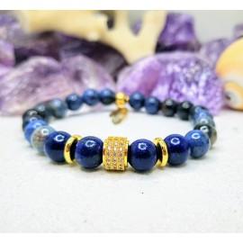 Dumortierit/Lapis Lazuli