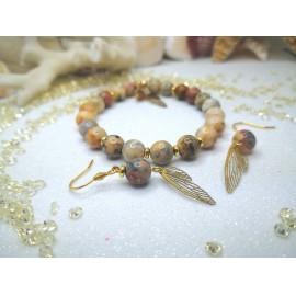 Csipke achát/pillangószárny /arany
