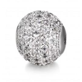 Kagylóhéj gyöngy /ezüst